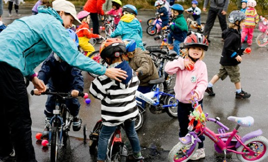 Danish children learn to cycle at early age!