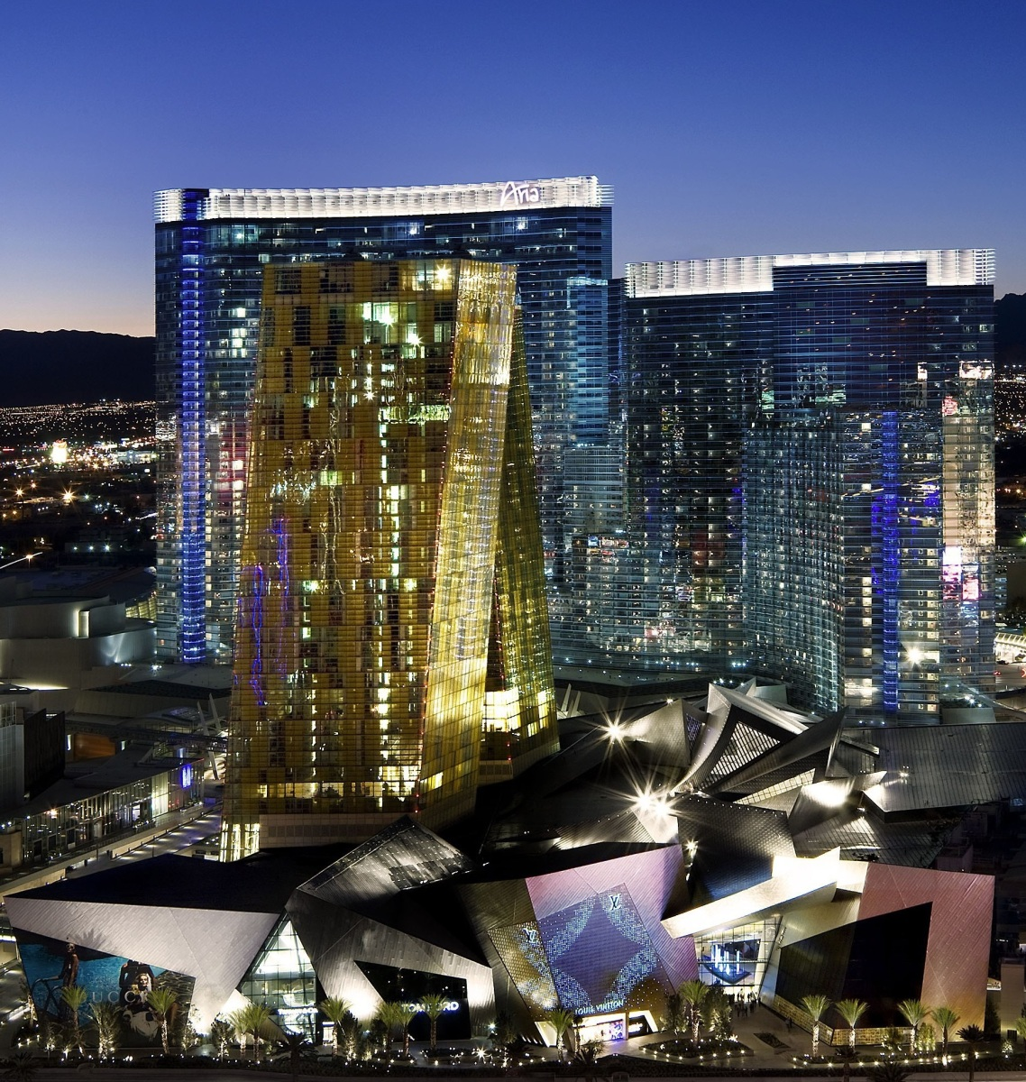Las Vegas hotels are as green as lights