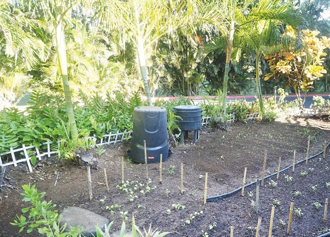 The hotel grows herbs and vegetables for its restaurants The Kahala Hotel & Resort